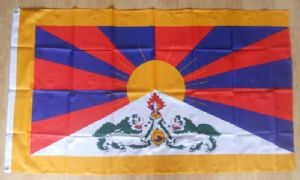 Tibet Large Country Flag - 5' x 3'.